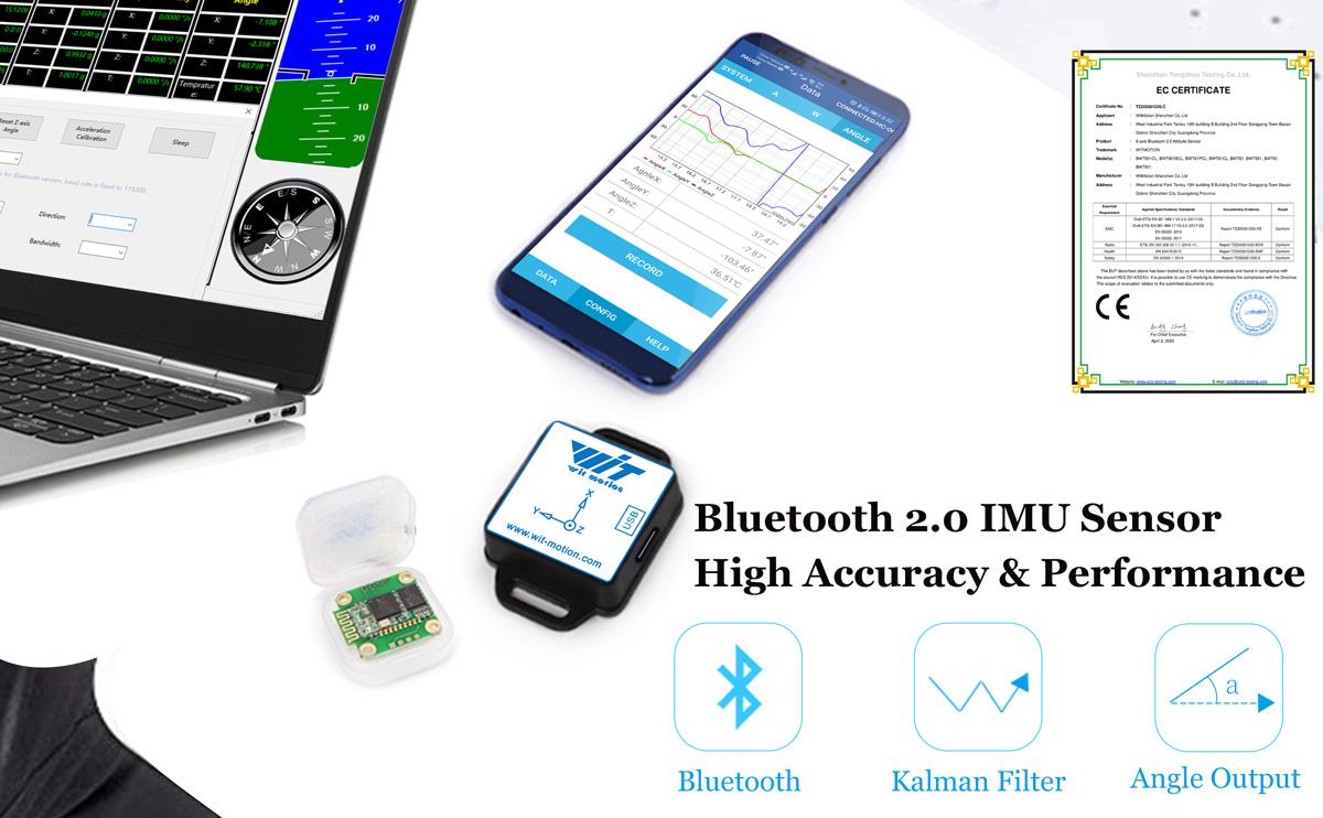 WitMotion Bluetooth 2.0 BWT61CL 6 Axis Sensor AHRS IMU MPU6050 Digital Tilt Angle   Accelerometer   Gyroscope on PC/Android/MCU