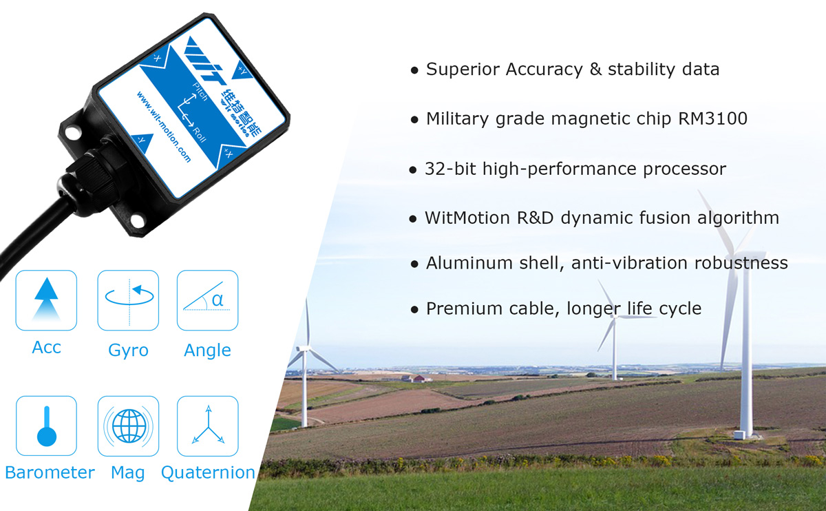 WitMotion HWT901B RS232 10 Axis Sensor Angle Inclinometer   Accelerometer   Gyro   Magnetometer RM3100   Barometer For PC/Android/MCU
