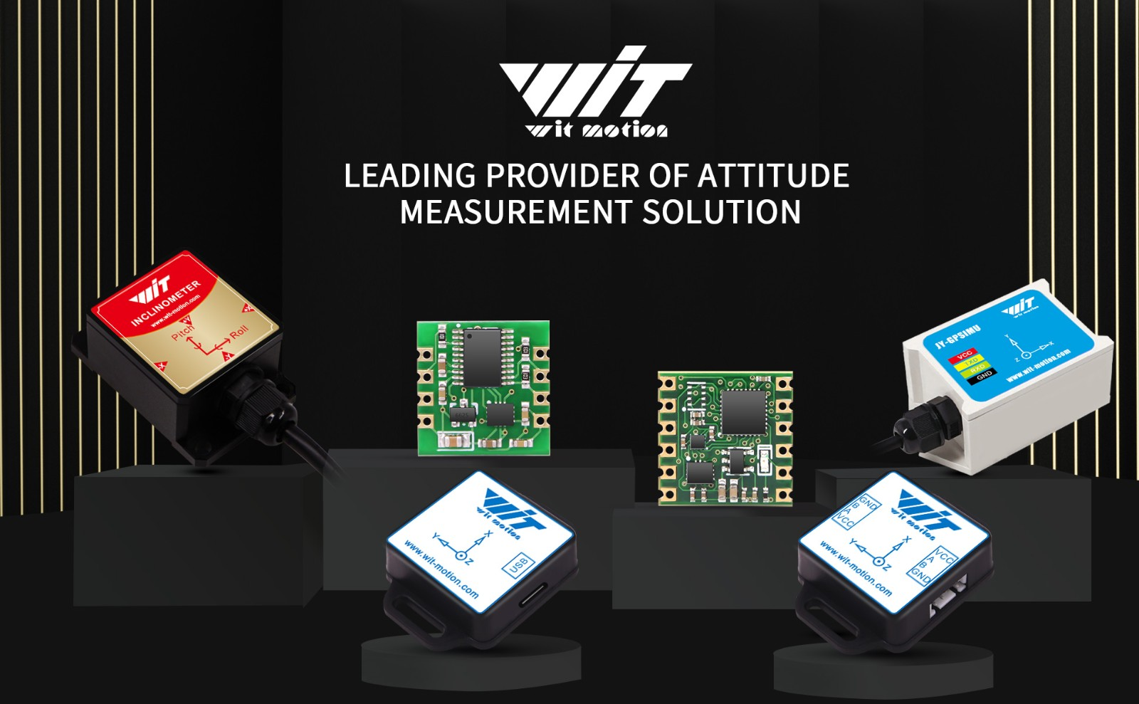 WitMotion WT61C RS232 AHRS 6 Axis Sensor Tilt Angle Inclinometer (Roll Pitch)   Accelerometer   Gyroscope MPU-6050 For PC/Android/MCU