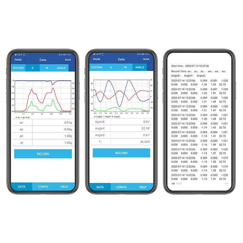 WitMotion Bluetooth 2.0 BWT61CL 6 Axis Sensor AHRS IMU MPU6050 Digital Tilt Angle + Accelerometer + Gyroscope on PC/Android/MCU
