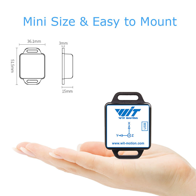 WitMotion Bluetooth 2.0 Mult-Connect BWT901CL 9 Axis IMU Sensor Angle Inclinometer + Acceleration + Gyro + Mag on PC/Android/MCU