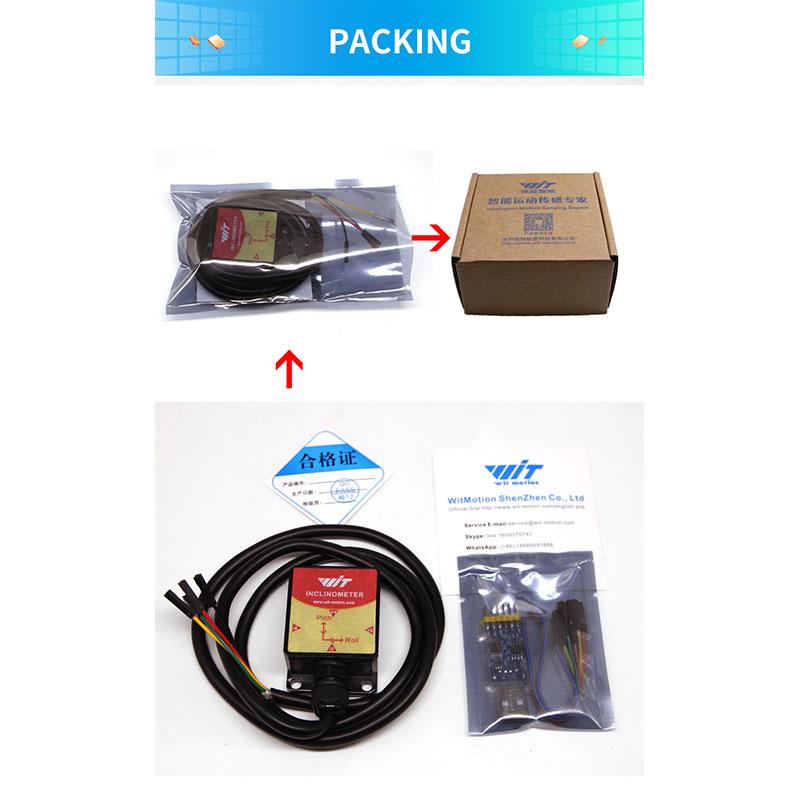 WitMotion HWT905 RS485 High Accuracy 0.05 ° Military-Grade Sensor Inclinometer 9 Axis AHRS Sensor Waterproof IP67 & Anti-vibration