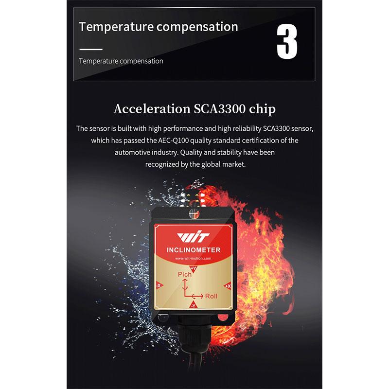 WitMotion HWT905 TTL High Accuracy 0.05 ° Military-Grade Sensor Inclinometer 9 Axis AHRS Sensor Waterproof IP67 & Anti-vibration