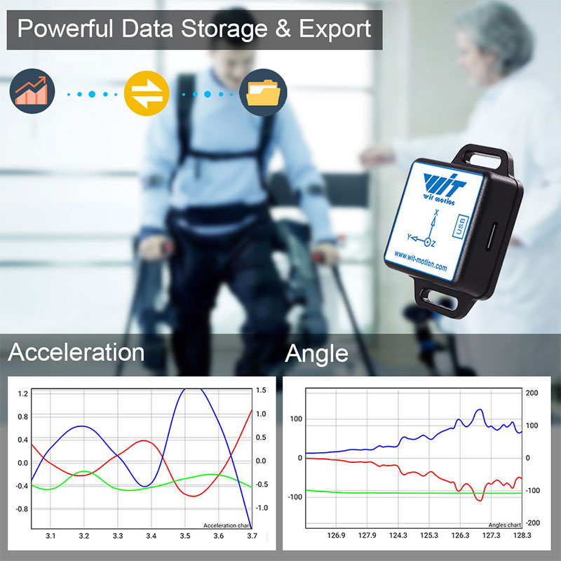 WitMotion Bluetooth BLE 5.0 9 Axis Low-consumption Sensor WT901BLECL Angle + Acceleration + Gyro + Mag MPU9250 on PC/Android