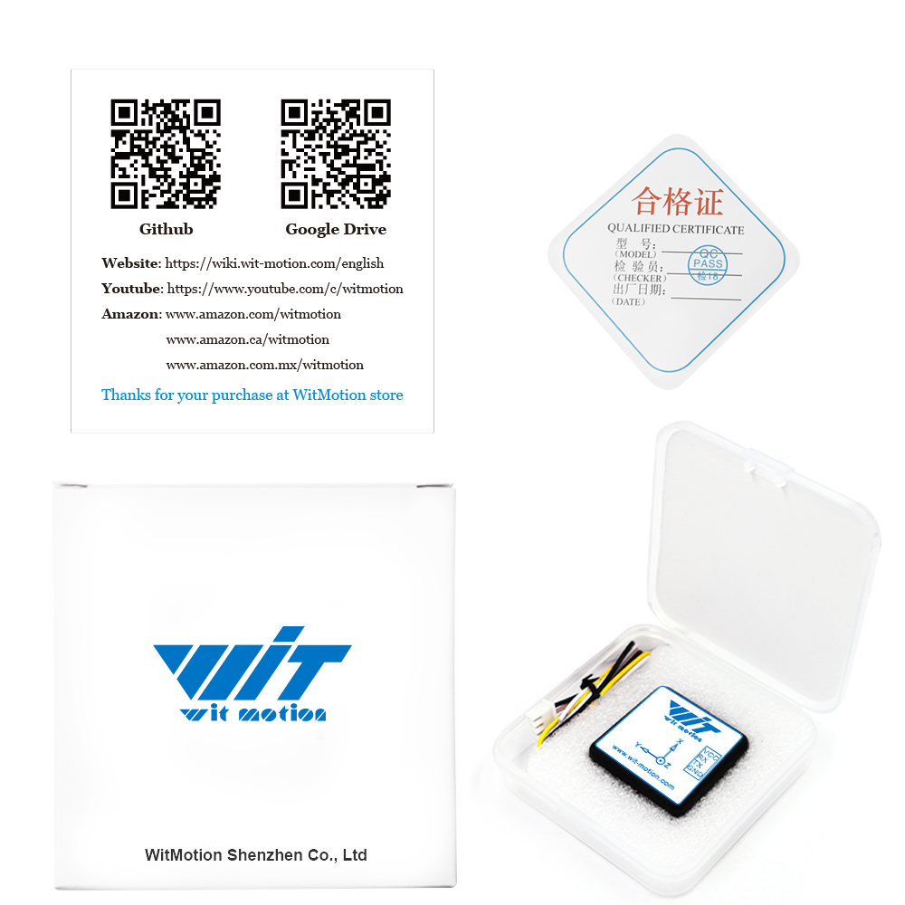 WitMotion WT901C TTL 9 Axis IMU Sensor Tilt Angle Roll Pitch Yaw + Acceleration + Gyroscope + Magnetometer MPU9250 on PC/Android/MCU